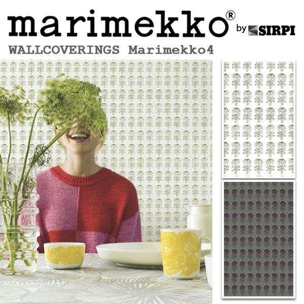 輸入壁紙/フィンランド(生産はイタリア)製/Marimekko4(マリメッコ4):marimekko(マリメッコ)メーカー品番:17941,17944/PIKKURUUSU(ピックルース)/1ロール(巾53cmX10.05m)単位販売/不織布