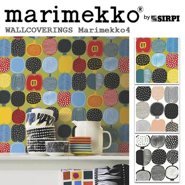 輸入壁紙/フィンランド(生産はイタリア)製/Marimekko4(マリメッコ4):marimekko(マリメッコ)メーカー品番:17935,17936,17937/KOMPOTTI(コンポッティ)/1ロール(巾53cmX10.05m)単位販売/不織布