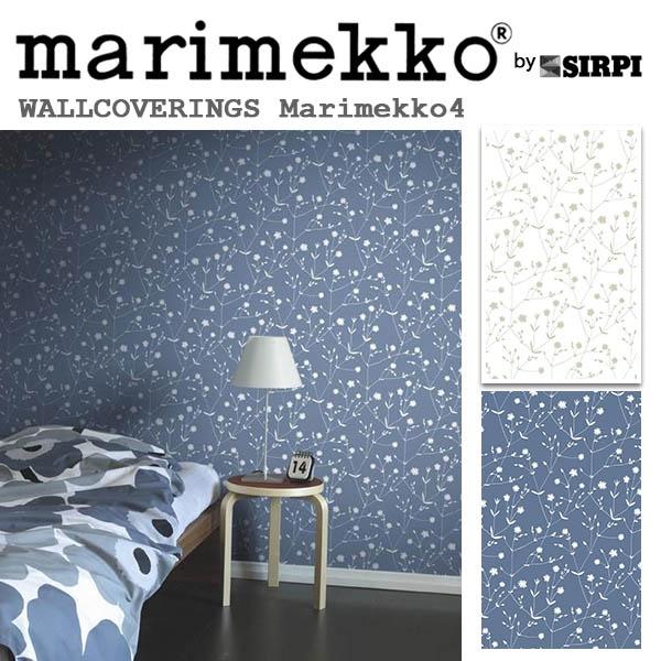 輸入壁紙/フィンランド(生産はイタリア)製/Marimekko4(マリメッコ4):marimekko(マリメッコ)メーカー品番:17960,17968/LLALLA(イッラッラ)/1ロール(巾53cmX10.05m)単位販売/不織布