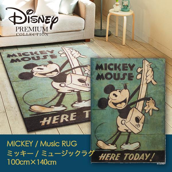 MICKEY / Music RUG ミッキー / ミュージックラグ 100×140cm (メーカー別送品)【ラグ マット ディズニー 防ダニ 耐熱 日本製】[大型]