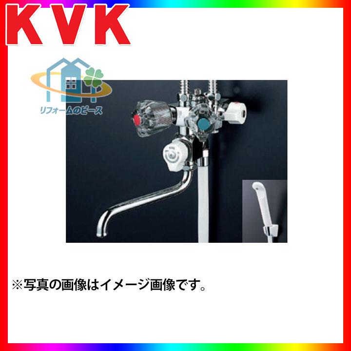 [KF50NC] KVK 水栓 ソーラー2ハンドルシャワー 浴室用 混合栓 専用形 蛇口 壁付きタイプ 専用形 [北海道沖縄離島除き送料無料]