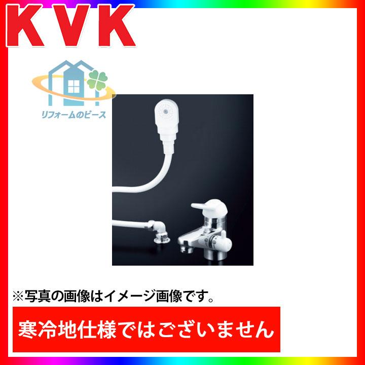[KF309AF2-HGN] KVK 水栓 シングルレバー式洗髪シャワー 洗面台用 3ッ穴タイプ 蛇口 一般地 台付きタイプ 逆止弁 [北海道沖縄離島除き送料無料]