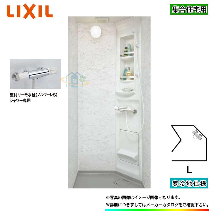 ★[SPB-0808LBEH-A+C_L] LIXIL INAX シャワーユニット ビルトインタイプ 鏡面パネル 寒冷地仕様 [条件付送料無料]