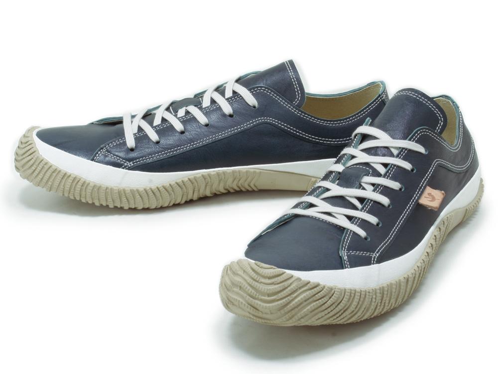 スピングルムーブ SPINGLE MOVE SPM-110 Dark Blue スピングルムーブ SPM-110 dark blue leather sneakers SPINGLE MOVE spingle move