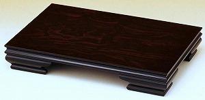 花台 木製 床の間 みやび 黒丹調 16号:約幅48X奥行32X高さ8cm 和風