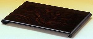 花台 木製 床の間 クリ台 黒丹調 16号:約幅48X奥行31X高さ3.8cm 和風