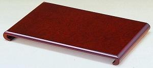 花台 木製 床の間 クリ台 紫丹調 16号:約幅48X奥行31X高さ3.8cm 和風