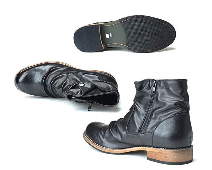 6 20限定 Wエントリーで最大P16倍 カードFRANCO GIOVANNI フランコジョバンニ FG347 メンズ ブーツ サイドファスナー ライダース エンジニア ショート 靴PXwZkTOiu