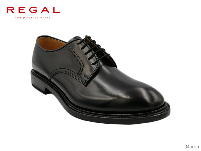 誕生日プレゼント リーガル REGAL オーセンティックなラウンドラストのプレーントウ 04NRBH 04NR BH 靴 正規品 メンズ, みんな笑顔 9cf1a531