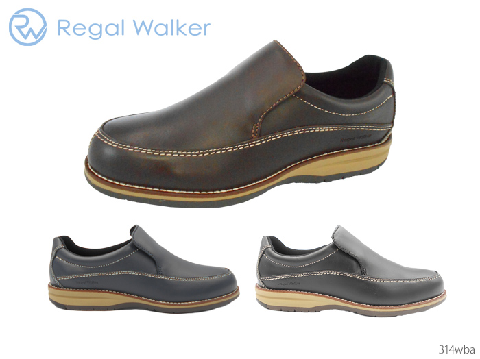 Regal Walker 314WBA ウォーキングシューズ 【3/20限定!ポイント最大12倍!カードで】 リーガル REGAL 314WBA 314W BA リーガルウォーカー リーガルウォーカー スリッポン 牛革 3E 靴 正規品 メンズ