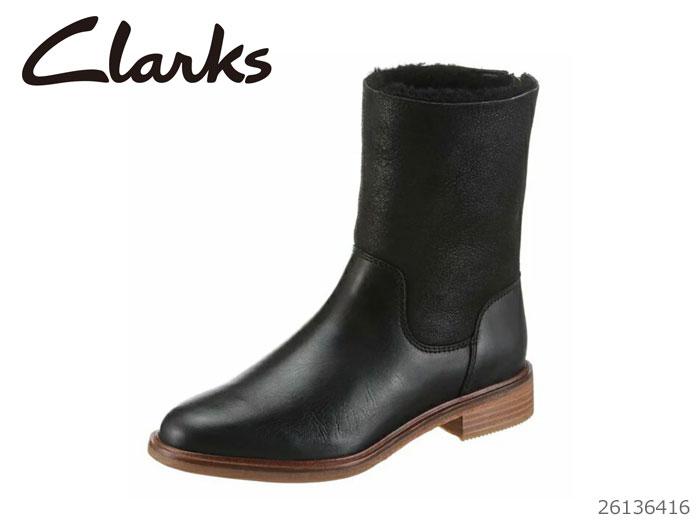 【12/26 01:59まで当店限定ポイント10倍!エントリーで】 CLARKS クラークス シューズ レディース Clarkdale Axel Black Leather Combi 26136416