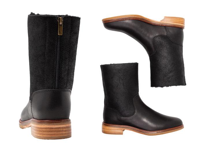 CLARKS kulaki shoes Lady's Clarkdale Axel Black Leather Combi 26136416