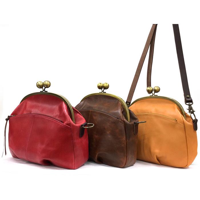 ショルダー バッグ 本革 がま口 日本製 キューズ | レディース 収納 おしゃれ かわいい カジュアル 可愛い 通勤 通学 バック BAG かばん 鞄 カバン