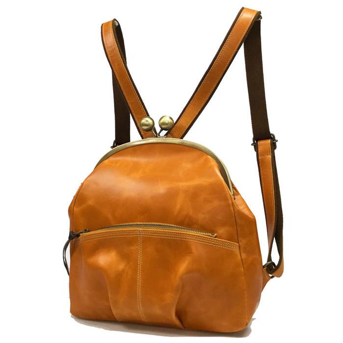 リュック バッグ 本革 がま口 日本製 キューズ | レディース 収納 おしゃれ かわいい カジュアル 可愛い 通勤 通学 バック BAG かばん 鞄 カバン
