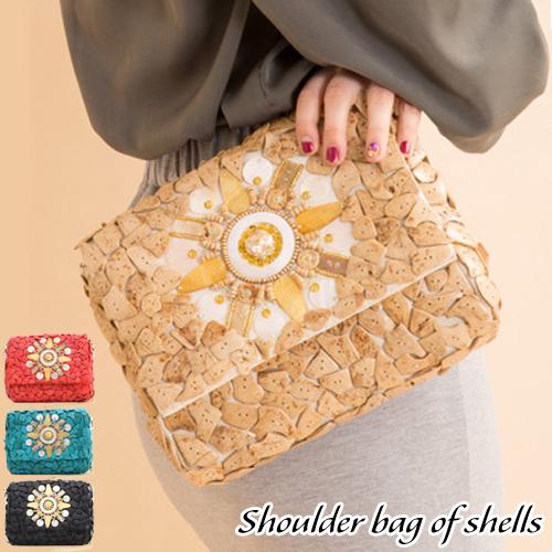 バッグ ショルダーバッグ シェル 貝殻 コンパクト かわいい ココシェル CAL クー | レディース 収納 おしゃれ かわいい カジュアル 可愛い 通勤 通学 バック BAG かばん 鞄 カバン