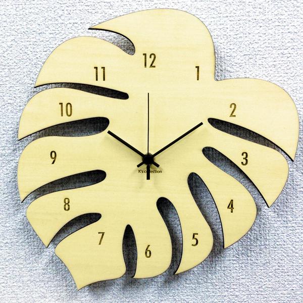 期間限定送料無料 送料無料 時計の音が気にならないSKPスイープムーブメント 掛時計 ハワイアン 掛け時計 モンステラ アジアン シルエット かわいい 新着 クロック 時計 レディース 人気 おしゃれ カジュアル 可愛い