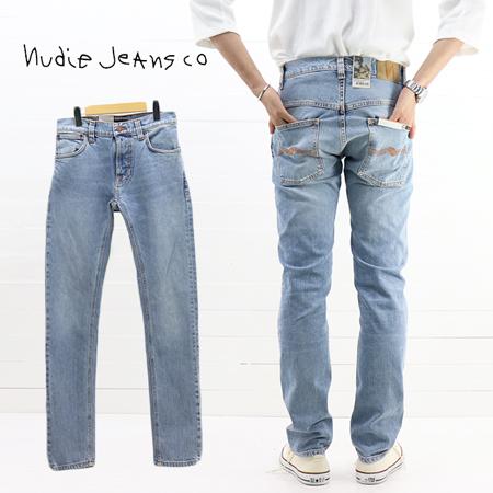 ≪30%OFF&送料無料≫再値下げ Nudie Jeans MENS THIN FINN SLIM SKINNY LIGHT BLUE COMFORT 49161-1141 / ヌーディージーンズ メンズ シンフィン スリムフィット スキニー ライトブルーコンフォート 49161-1141