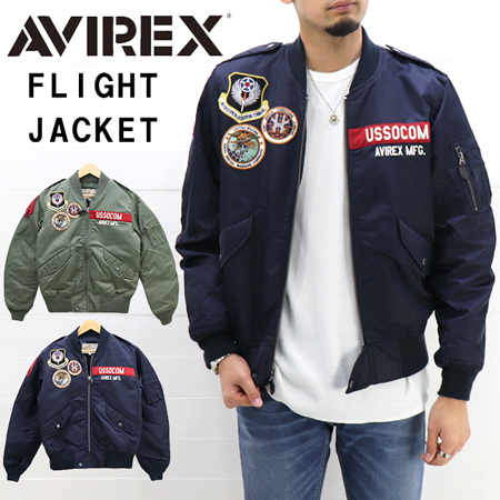 ≪SALE&送料無料≫AVIREX MENS TYPE L-2 FLIGHT JACKET GT-10 6192132 / アビレックス メンズ ワッペン フライトジャケット 6192132