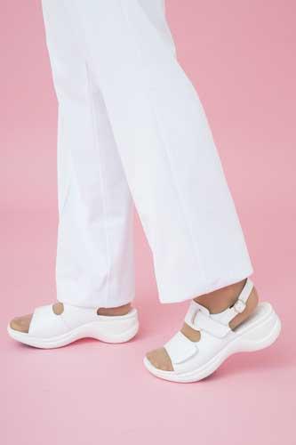 【中敷きプレゼント /  】リゲッタワーク ストラップサンダル Re:getA / 靴 コンフォートシューズ 痛くない 履きやすい 靴 疲れにくい 歩きやすい ぺたんこ 楽チン レディース【 RW-0001 】:リゲッタ(Re