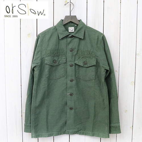 """orSlow(或低下)""""US ARMY SHIRTS""""(GREEN USED)"""