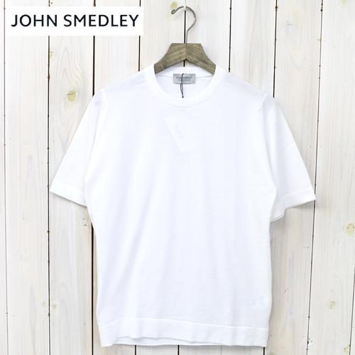 【最大15%OFFクーポン配布中】JOHN SMEDLEY (ジョン・スメドレー)『S4071-CN SS』(WHITE)【正規取扱店】【smtb-KD】【sm15-17】【クルーネック半袖ニット】【メンズ】