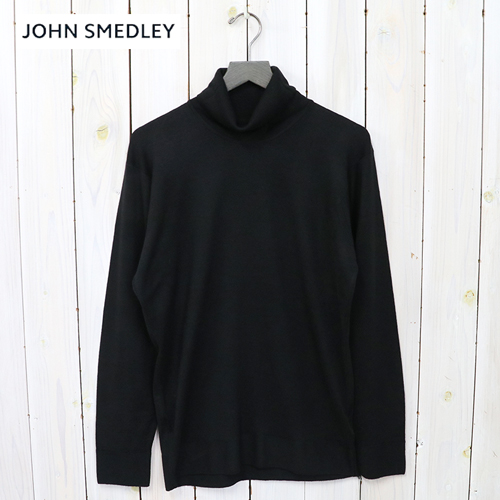 【10%OFFクーポン配布中】JOHN SMEDLEY (ジョン・スメドレー)『A4370(長袖タートルネック)』(BLACK)【正規取扱店】【smtb-KD】【sm15-17】【24ゲージ】【メリノウール】【タートルネック長袖ニット】