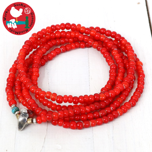 【10%OFFクーポン配布中】SunKu (サンク)『White Heart Beads 5strings Bracelet-SK034』【smtb-KD】【sm15-17】【ブレスレット】【ネックレス】【ビーズ】