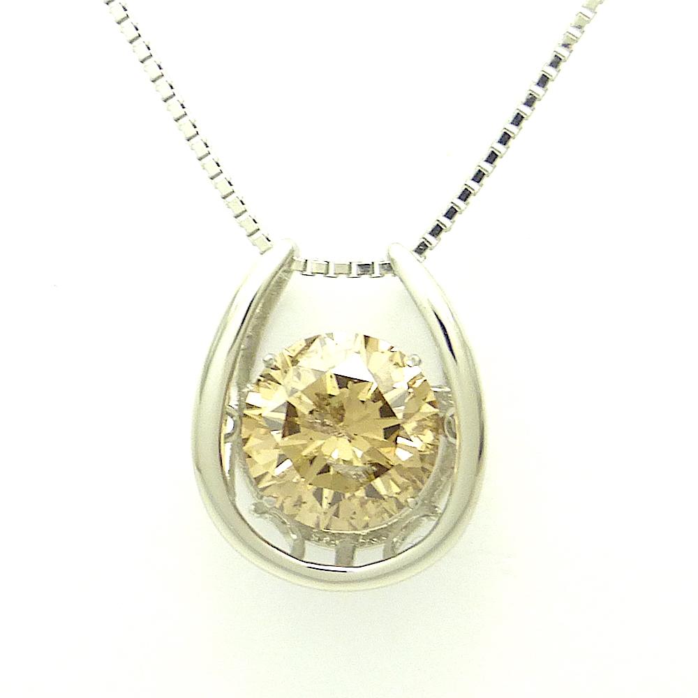ダンシングストーン ダイヤモンド ネックレス 3.025ct PT900 クロスフォー 鑑付