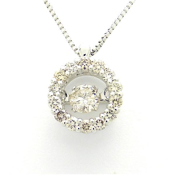 ダンシングストーン ダイヤモンド ゴールドペンダントネックレス キラキラと揺れるダイヤモンド0.10ct 0.14ct CM コマーシャル クロスフォー