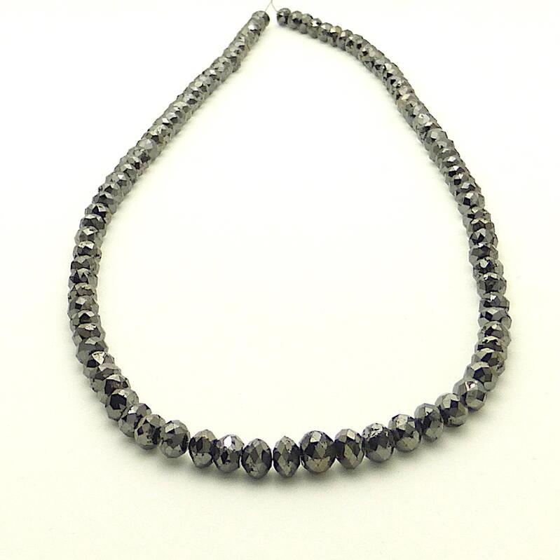 125ctブラックダイヤモンドネックレス K18WG×Black Diamond125ct 50cm