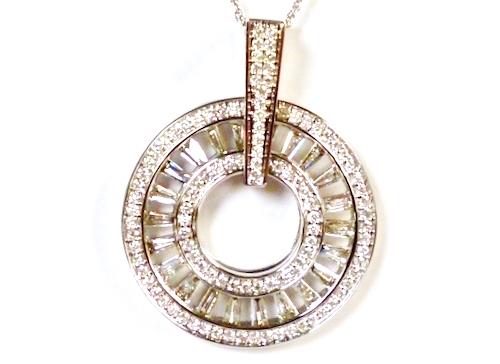 K18WG×合計ダイヤモンド1.90ct ホワイトゴールド ネックレス