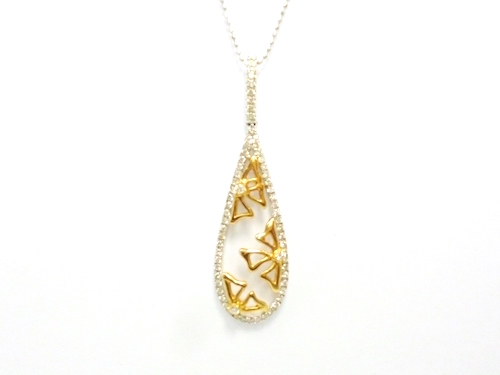 013fdf5b3899d4 K18PG×K18WG x diamond total 0.30 ct gold / white gold diamond necklace  ladies Jerry ...