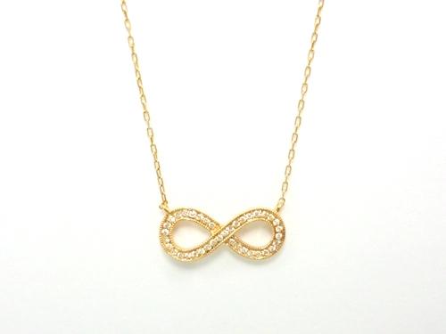 K18PG×ダイヤモンド合計0.12ct ピンクゴールドダイヤモンドネックレス レディースジュエリー・アクセサリー ネックレス・ペンダント ゴールド・ダイヤモンド