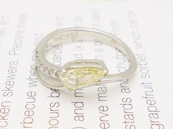 Pt×ダイヤモンド0.52×ダイヤモンド0.07ct リング ダイヤモンドプラチナリング