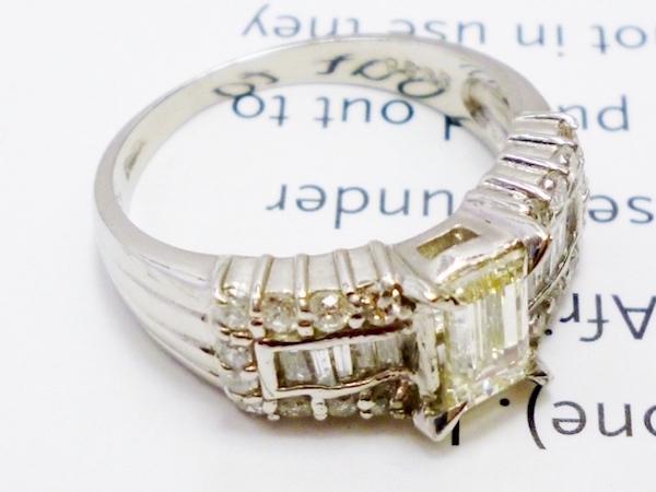 Pt900×ダイヤモンド0.58ct×ダイヤモンド0.72ct プラチナダイヤモンドリング