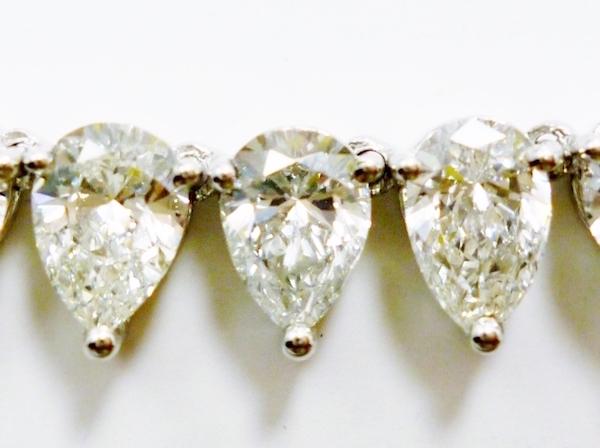 24.25カラットダイヤモンドテニスネックレス Pt×D24.25ct104石 高品質ダイヤ使用