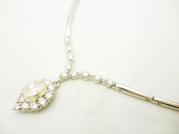 ダイヤモンドWGネックレス ダイヤモンド0.715ct×WG18 ダイヤモンドホワイトゴールドネックレス