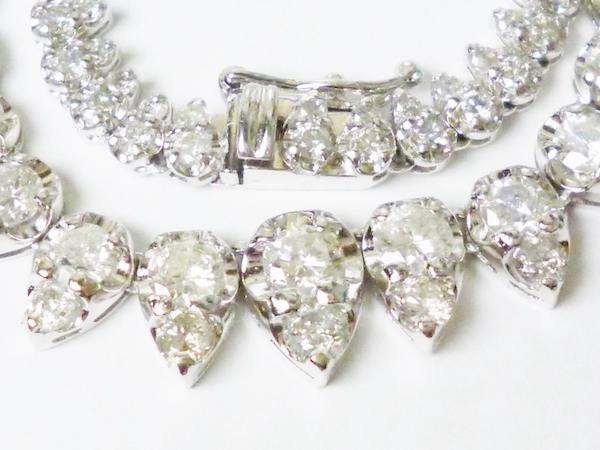 ダイヤモンド10.00ct×Pt900 ダイヤモンドプラチナネックレス