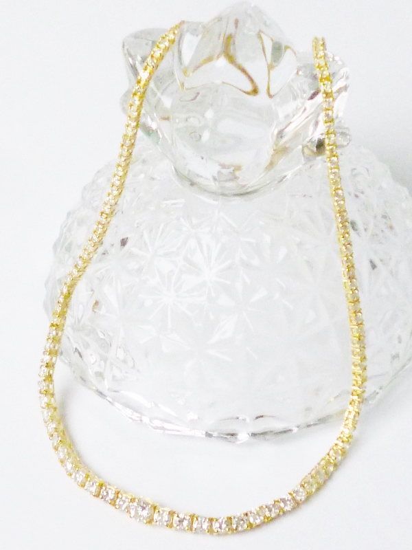ダイヤモンド10.00ct×K18 ダイヤモンドゴールドネックレス 10カラット