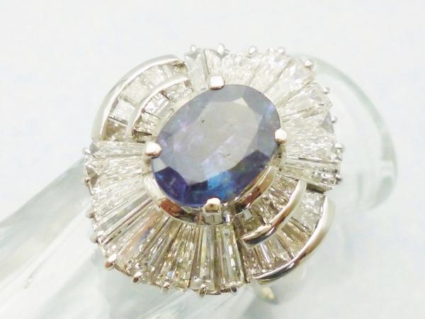 アレキサンドライトプラチナリング アレキサンドライト1.70ct×ダイヤモンド2.48ct×Pt900