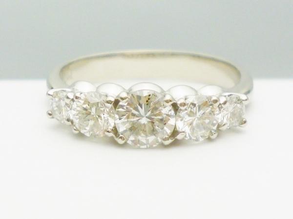 ダイヤモンドリング 1.01ct×Pt900