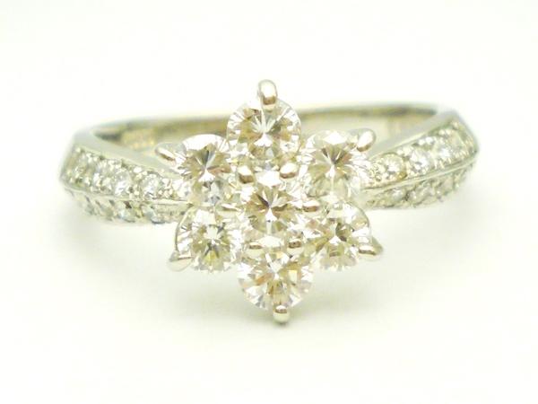 ダイヤモンドリング 0.908ct×Pt900
