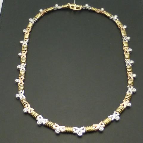 ダイヤモンド1.17ct×K18 K18WG ダイヤモンドゴールドネックレス