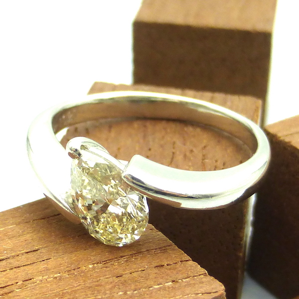 ダイヤモンド1.021ct×Pt プラチナリング