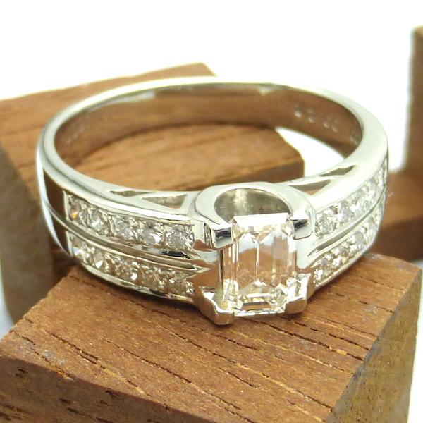 ダイヤモンド0.531ct×Pt プラチナリング