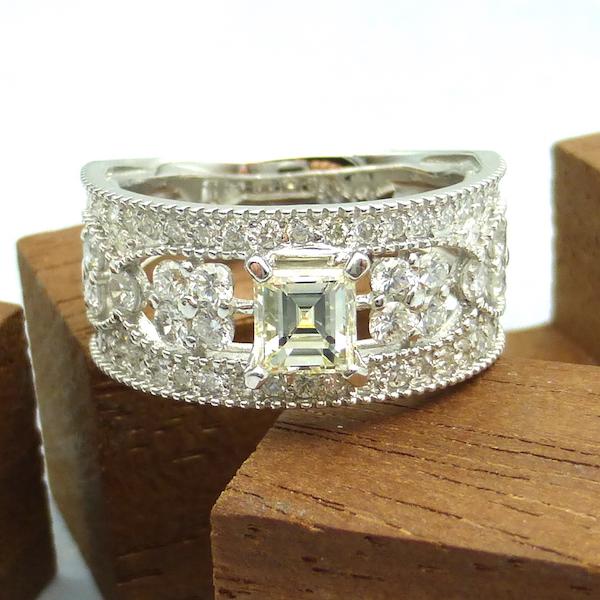 ダイヤモンド0.530ct×Pt プラチナリング