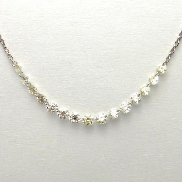 ダイヤモンド合計1.00ct×Pt900 ダイヤモンドプラチナネックレス
