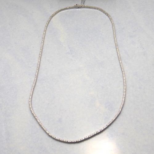 ダイヤモンド合計2.00ct×K18WG ゴールドネックレス