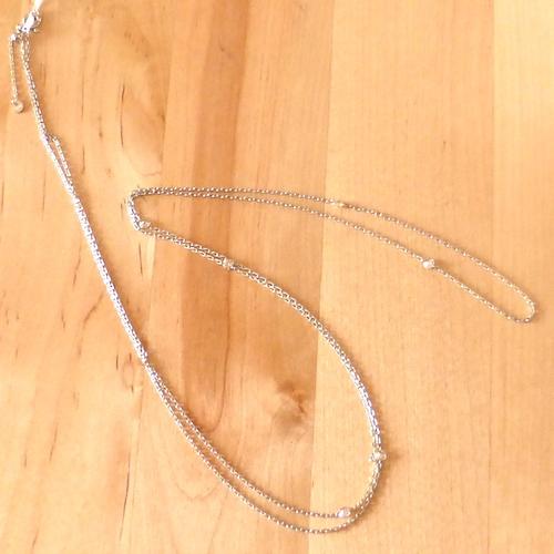 そのままかぶれ80cmロングネックレス ダイヤモンド0.50ct×PT900 プラチナネックレス 2重でも使え2WAY