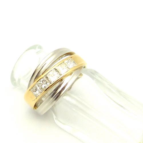 鑽石 1.04 ct x PT900 × K18 金剛石粗金戒指
